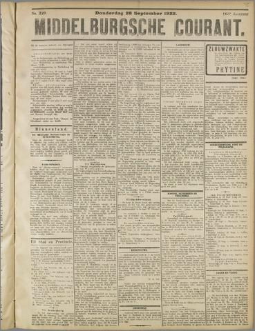 Middelburgsche Courant 1922-09-28