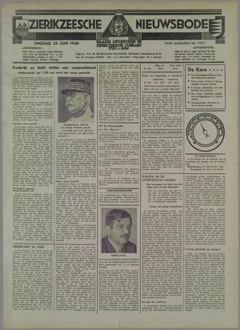 Zierikzeesche Nieuwsbode 1940-06-25