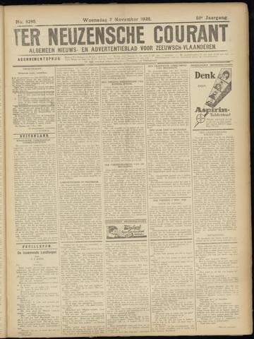Ter Neuzensche Courant. Algemeen Nieuws- en Advertentieblad voor Zeeuwsch-Vlaanderen / Neuzensche Courant ... (idem) / (Algemeen) nieuws en advertentieblad voor Zeeuwsch-Vlaanderen 1928-11-07
