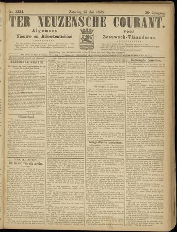 Ter Neuzensche Courant. Algemeen Nieuws- en Advertentieblad voor Zeeuwsch-Vlaanderen / Neuzensche Courant ... (idem) / (Algemeen) nieuws en advertentieblad voor Zeeuwsch-Vlaanderen 1896-07-25