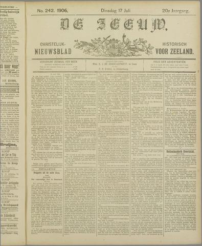 De Zeeuw. Christelijk-historisch nieuwsblad voor Zeeland 1906-07-17