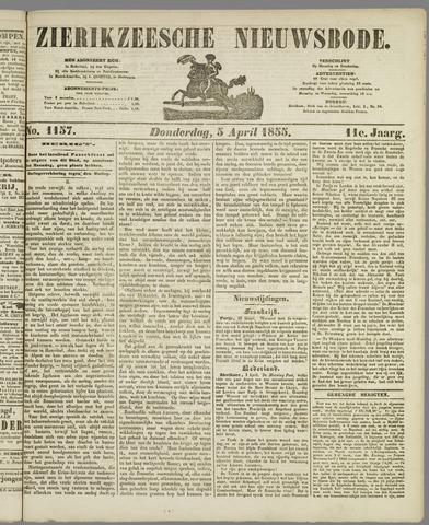 Zierikzeesche Nieuwsbode 1855-04-05