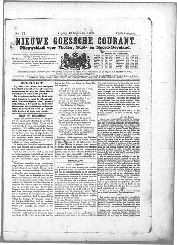 Nieuwe Goessche Courant 1870-09-16