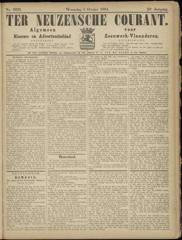 Ter Neuzensche Courant. Algemeen Nieuws- en Advertentieblad voor Zeeuwsch-Vlaanderen / Neuzensche Courant ... (idem) / (Algemeen) nieuws en advertentieblad voor Zeeuwsch-Vlaanderen 1884-10-01