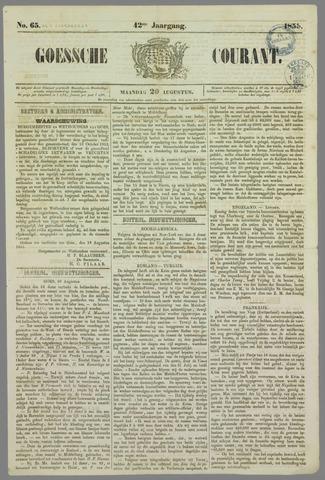 Goessche Courant 1855-08-20