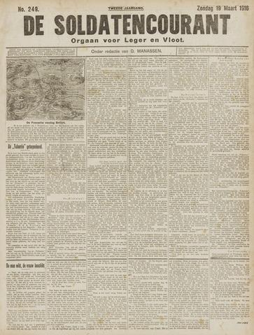 De Soldatencourant. Orgaan voor Leger en Vloot 1916-03-19