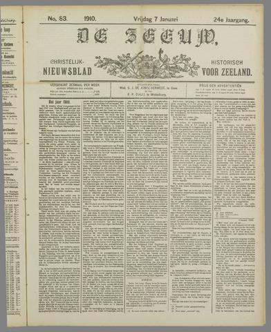 De Zeeuw. Christelijk-historisch nieuwsblad voor Zeeland 1910-01-07