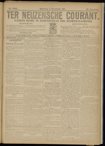 Ter Neuzensche Courant. Algemeen Nieuws- en Advertentieblad voor Zeeuwsch-Vlaanderen / Neuzensche Courant ... (idem) / (Algemeen) nieuws en advertentieblad voor Zeeuwsch-Vlaanderen 1916-12-02