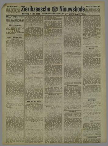 Zierikzeesche Nieuwsbode 1923-10-01
