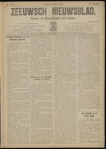 Ter Neuzensch Volksblad. Vrijzinnig nieuws- en advertentieblad voor Zeeuwsch- Vlaanderen / Zeeuwsch Nieuwsblad. Nieuws- en advertentieblad voor Zeeland 1918-01-29