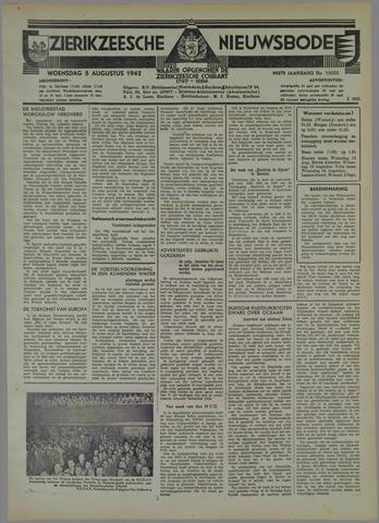 Zierikzeesche Nieuwsbode 1942-08-05