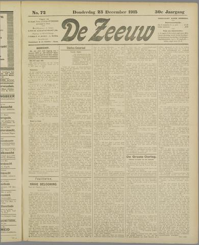 De Zeeuw. Christelijk-historisch nieuwsblad voor Zeeland 1915-12-23