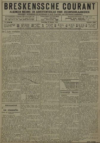 Breskensche Courant 1929-01-26