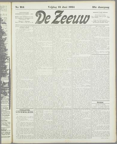 De Zeeuw. Christelijk-historisch nieuwsblad voor Zeeland 1924-06-13