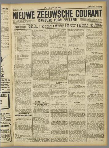 Nieuwe Zeeuwsche Courant 1922-05-17