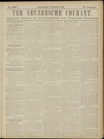 Ter Neuzensche Courant. Algemeen Nieuws- en Advertentieblad voor Zeeuwsch-Vlaanderen / Neuzensche Courant ... (idem) / (Algemeen) nieuws en advertentieblad voor Zeeuwsch-Vlaanderen 1919-10-02