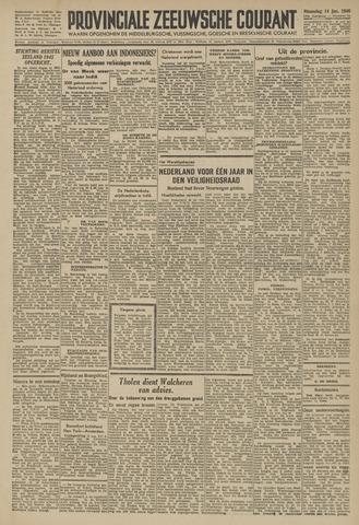 Provinciale Zeeuwse Courant 1946-01-14