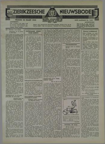 Zierikzeesche Nieuwsbode 1942-03-20