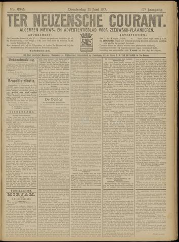 Ter Neuzensche Courant. Algemeen Nieuws- en Advertentieblad voor Zeeuwsch-Vlaanderen / Neuzensche Courant ... (idem) / (Algemeen) nieuws en advertentieblad voor Zeeuwsch-Vlaanderen 1917-06-21