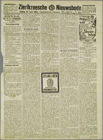 Zierikzeesche Nieuwsbode 1926-04-30