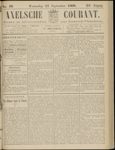 Axelsche Courant 1908-09-23