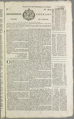 Zierikzeesche Courant 1814