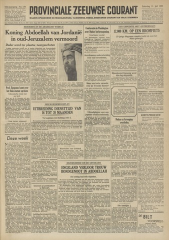 Provinciale Zeeuwse Courant 1951-07-21