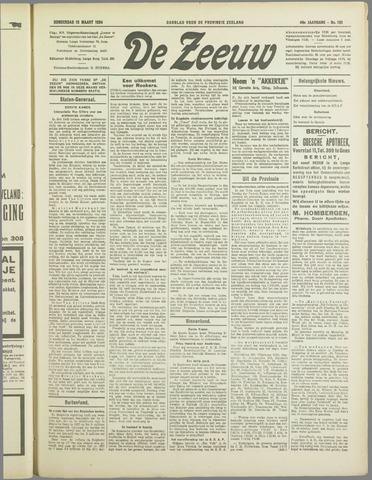 De Zeeuw. Christelijk-historisch nieuwsblad voor Zeeland 1934-03-15