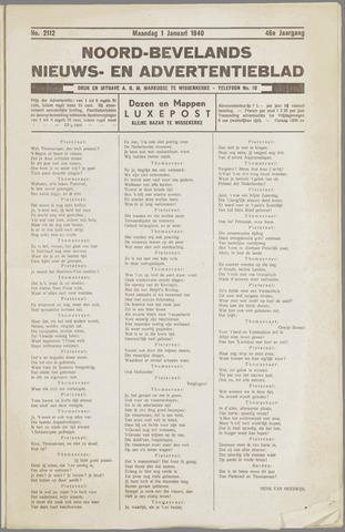 Noord-Bevelands Nieuws- en advertentieblad 1940