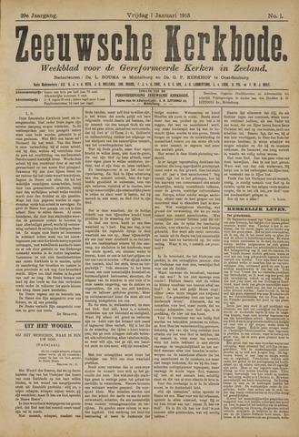Zeeuwsche kerkbode, weekblad gewijd aan de belangen der gereformeerde kerken/ Zeeuwsch kerkblad 1915
