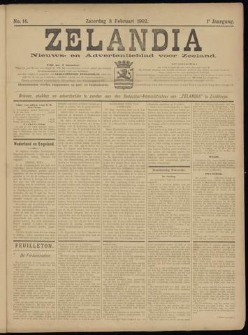Zelandia. Nieuws-en advertentieblad voor Zeeland | edities: Het Land van Hulst en De Vier Ambachten 1902-02-08