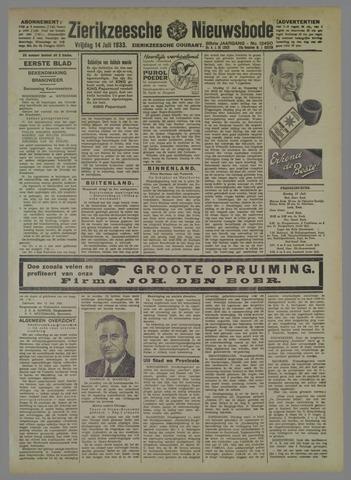 Zierikzeesche Nieuwsbode 1933-07-14