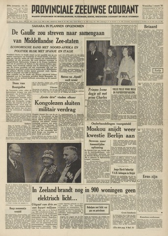 Provinciale Zeeuwse Courant 1961-03-01