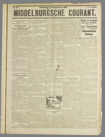 Middelburgsche Courant 1927-09-03