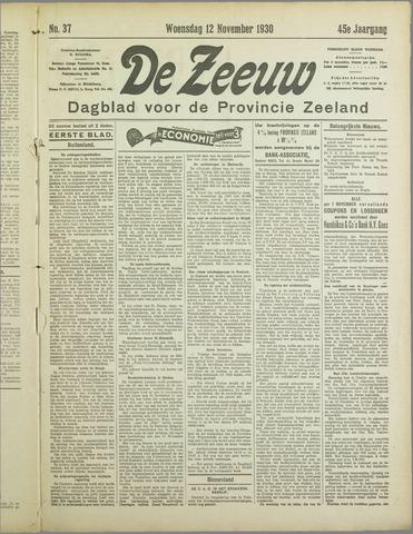 De Zeeuw. Christelijk-historisch nieuwsblad voor Zeeland 1930-11-12