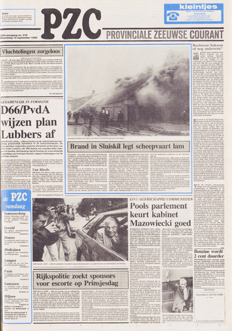 Provinciale Zeeuwse Courant 1989-09-13