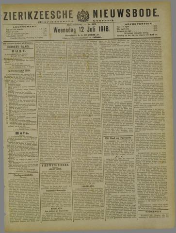 Zierikzeesche Nieuwsbode 1916-07-12