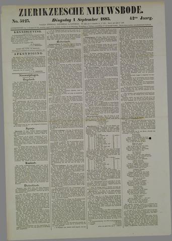 Zierikzeesche Nieuwsbode 1885-09-01