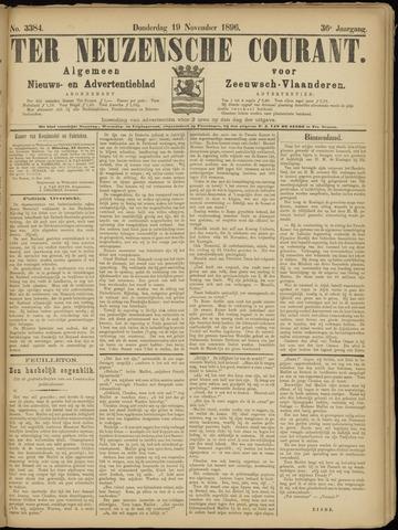 Ter Neuzensche Courant. Algemeen Nieuws- en Advertentieblad voor Zeeuwsch-Vlaanderen / Neuzensche Courant ... (idem) / (Algemeen) nieuws en advertentieblad voor Zeeuwsch-Vlaanderen 1896-11-19