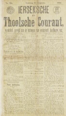 Ierseksche en Thoolsche Courant 1889-08-24