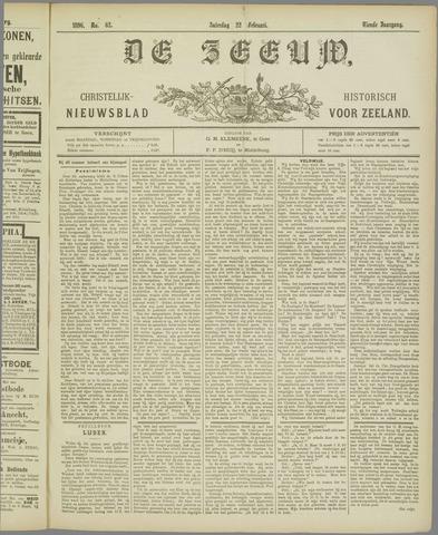 De Zeeuw. Christelijk-historisch nieuwsblad voor Zeeland 1896-02-22