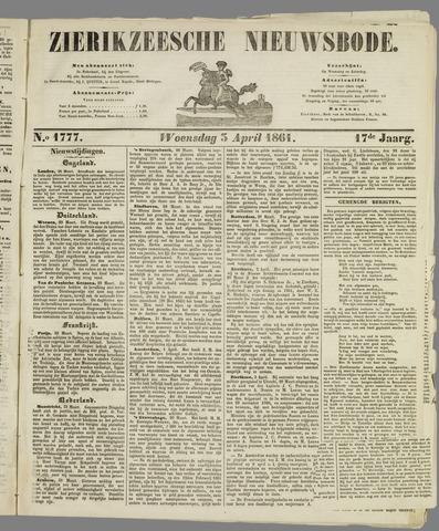 Zierikzeesche Nieuwsbode 1861-04-03