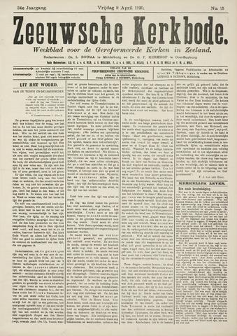Zeeuwsche kerkbode, weekblad gewijd aan de belangen der gereformeerde kerken/ Zeeuwsch kerkblad 1920-04-09