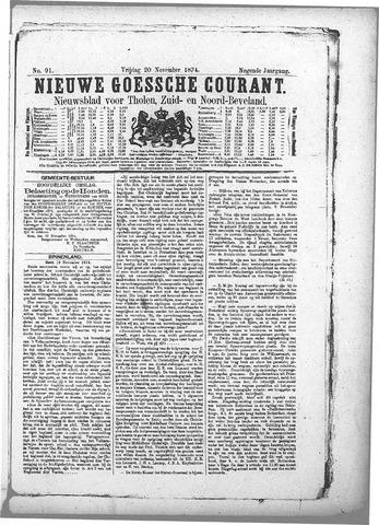 Nieuwe Goessche Courant 1874-11-20