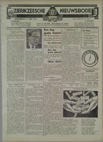 Zierikzeesche Nieuwsbode 1937-06-17