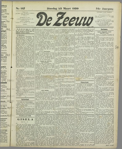 De Zeeuw. Christelijk-historisch nieuwsblad voor Zeeland 1920-03-23