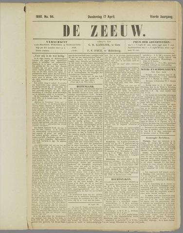 De Zeeuw. Christelijk-historisch nieuwsblad voor Zeeland 1890-04-17