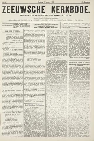 Zeeuwsche kerkbode, weekblad gewijd aan de belangen der gereformeerde kerken/ Zeeuwsch kerkblad 1934-01-19