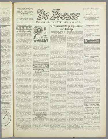 De Zeeuw. Christelijk-historisch nieuwsblad voor Zeeland 1937-12-30