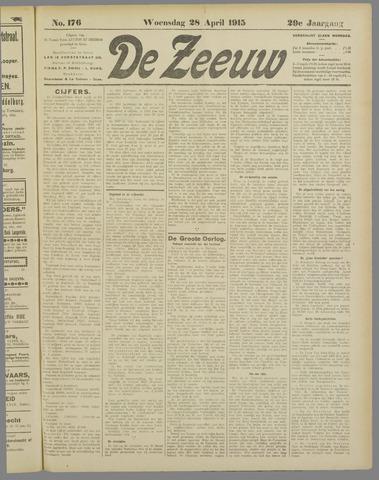 De Zeeuw. Christelijk-historisch nieuwsblad voor Zeeland 1915-04-28